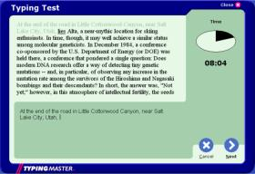 TypingMaster Typing Test Screen Shot 2