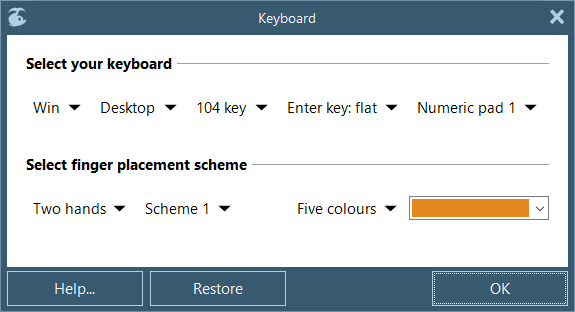 Initial keyboard customising