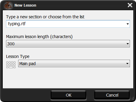 dialog box Insert Lesson