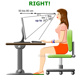 Right Typing Position