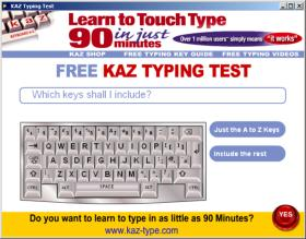 KAZ Typing Test screenshot 2