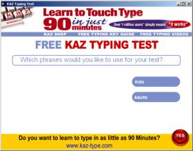 KAZ Typing Test screenshot 3