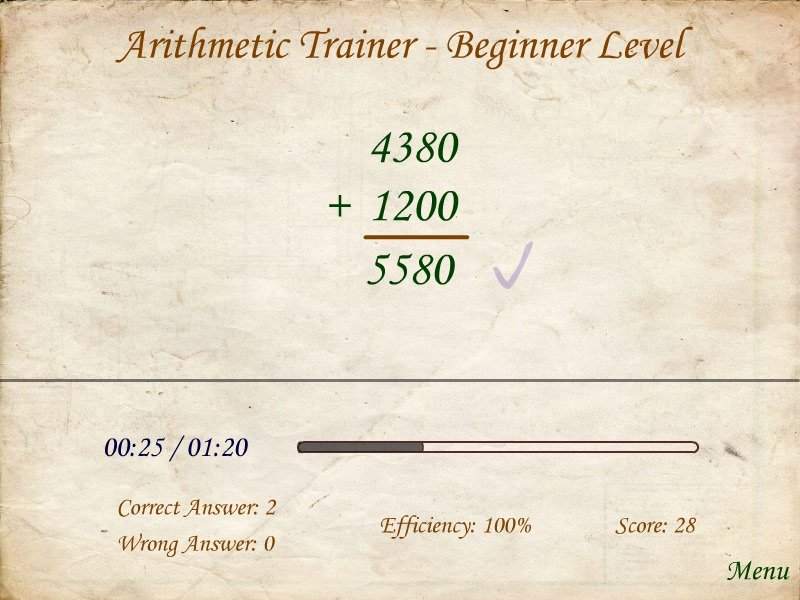 Arithmetic Trainer