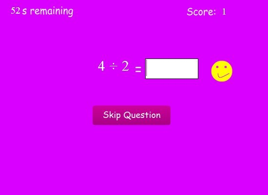 Simple Division Math Game